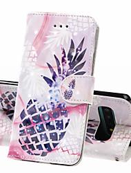 Недорогие -Кейс для Назначение SSamsung Galaxy S9 / S9 Plus / Galaxy S10 Кошелек / Бумажник для карт / Защита от удара Чехол Продукты питания Твердый Кожа PU