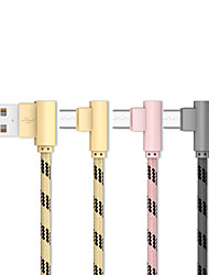 cheap -Micro USB Cable 0.2m(0.65Ft) Gold Plated / Quick Charge Aluminum USB Cable Adapter For Samsung / Huawei / Xiaomi