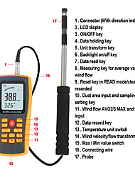 Недорогие -rz gm8903 анемометр скорость ветра датчик измерения температуры usb интерфейс инструмент измерительный прибор