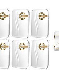 cheap -Wireless home doorbell battery DC power one for six full battery without plugging wireless waterproof doorbell