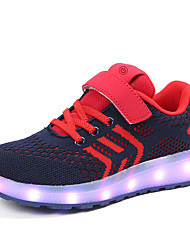 cheap -Boys' / Girls' LED / LED Shoes / USB Charging Knit / Faux Leather Sneakers LED Shoes Little Kids(4-7ys) / Big Kids(7years +) Walking Shoes LED / Luminous Black / Red / Pink Spring / Summer / Rubber