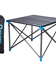 cheap -BEAR SYMBOL Camping Table Retractable Adjustable Flexible Folding Easy to Install Aluminium Alloy with Carabiners and Tree Straps for 4 person Camping Autumn / Fall Spring Silver+Blue