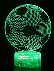 cheap -1pc 3D Football Nightlight Color-changing USB Creative <=36 V