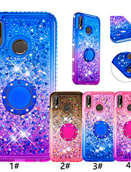 cheap -Case For Huawei Huawei P Smart (2019) / P20 lite Glitter Shine / Ring Holder Back Cover Color Gradient Soft TPU for Huawei Honor 7A / Huawei P smart