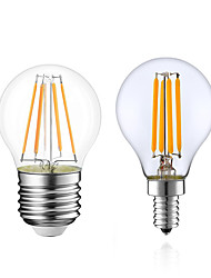 cheap -1pc 4 W LED Filament Bulbs 380 lm E14 E12 E26 / E27 G45 4 LED Beads COB Dimmable Warm White 220-240 V 110-130 V / 1 pc / RoHS / LVD