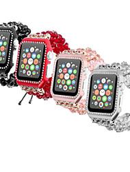 Недорогие -кристалл телескопическая цепь с корпусом рамка smartwatch ремешок для яблочных часов серии 4/3/2/1 ювелирный дизайн iwatch ремешок