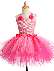 cheap -Handmade Dance Performance Flower Kids Girls Party Dresses Unicorn Cosplay Costume Pink
