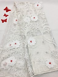 cheap -Lace Florals Pattern 125 cm width fabric for Bridal sold by the 5Yard