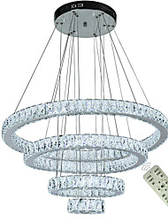 cheap -4 Rings Modern Crystal Chandeliers Light LED Chandelier Ceiling Lighting Indoor Chandelier Pendant Lights Home Hanging Lamps Fixtures 110-120V 220-240V