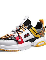 cheap -Men's Light Soles Mesh / PU Summer Sporty / Casual Athletic Shoes Walking Shoes Breathable Black / Light Brown / White / Yellow