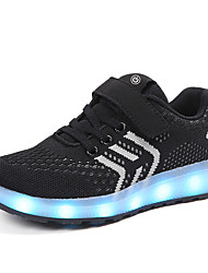 cheap -Boys / Girls USB Charging  LED / LED Shoes Faux Leather / Flyknit Sneakers Little Kids(4-7ys) / Big Kids(7years +) Walking Shoes LED Black / Red / Blue Spring / Summer / Rubber
