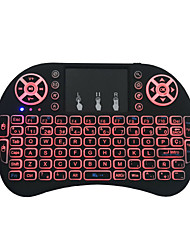 cheap -Miimall I8 USB Wired / Wireless 2.4GHz Multimedia Keyboard Luminous Rechargeable Multicolor Backlit 92 pcs Keys
