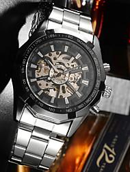 cheap -Men's Mechanical Watch Automatic self-winding Stylish Fashion Water Resistant / Waterproof Analog White Black / Large Dial