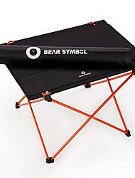 Недорогие -BEAR SYMBOL Туристический стол Легкость Очень тонкий Складной Простота установки Полиэстер 1680D для Походы Осень Весна Черный / оранжевый Черный / синий