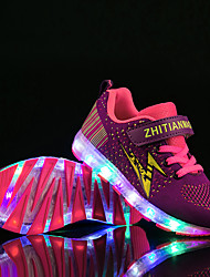 cheap -Boys' / Girls' LED / LED Shoes / USB Charging Knit Sneakers LED Shoes Little Kids(4-7ys) / Big Kids(7years +) Walking Shoes LED / Luminous Purple / Blue / Black / Green Summer / Fall / Color Block