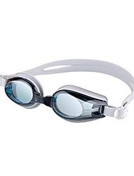 abordables -Lunettes de natation Coupe Vent Lunettes de natation Antibrouillard Extérieur Natation Silikon Gomme Polycarbonate Gris Noir Bleu