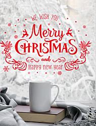 Недорогие -С цветами / Рождество 60 cm 45 cm Стикер на окна Для гостиной / Ванная комната / Магазин / Кафе ПВХ