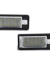 cheap -2pcs/set Led License Number Plate Light Lamp for Audi A3/A4/A6/A8/RS4/RS6