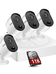 cheap -ZOSI 4CH 5MP HD Surveillance Security Cameras System 4Pcs HD Video Camera CCTV Systems 1TB Seagate Skyhawk HDD 4 in 1 DVR Weatherproof Night Vision & Easy Mobile Monitoring