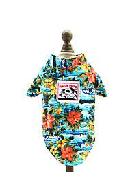 cheap -Dogs Cats T-shirts Dog Clothes Random Color Costume Cotton Print Leisure XS S M L XL