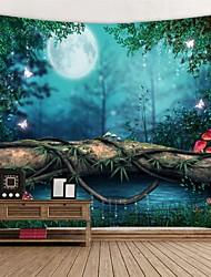 Недорогие -Сад / Цветы Декор стены 100% полиэстер Классика / Modern Предметы искусства, Стена Гобелены Украшение