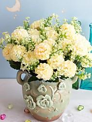 Недорогие -1шт искусственный пластик цветок 21 алмаз роза 7 вилка весна маленькая роза бутон искусственный цветок