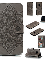 Недорогие -чехол для Huawei P Smart Plus Huawei P Smart (2019) чехол для телефона искусственная кожа материал дурман цветы шаблон сплошной цвет чехол для телефона