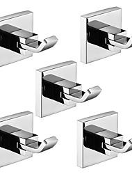 cheap -Robe Hook Premium Design / Creative Contemporary / Modern Metal 5pcs - Bathroom Wall Mounted