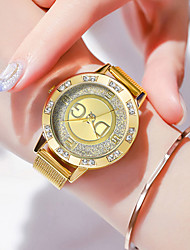 cheap -Women's Quartz Watches Casual Fashion Silver Gold Stainless Steel Chinese Quartz Gold Silver Water Resistant / Waterproof Cute Casual Watch 30 m 1 pc Analog One Year Battery Life