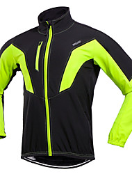 cheap -Arsuxeo Men's Cycling Jacket Bike Winter Jacket Windproof Sports Winter Black / Green / Red Mountain Bike MTB Road Bike Cycling Clothing Apparel Relaxed Fit Bike Wear / Stretchy