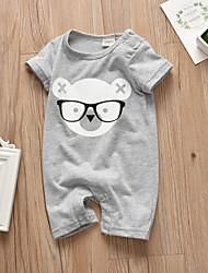 cheap -Baby Boys' Active / Basic Print Print Short Sleeves Romper Gray