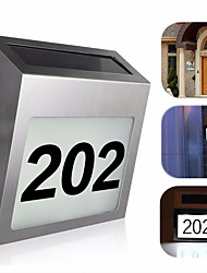 cheap -Solar Power 3 LED Light Sign House Hotel Door Address Plaque Number Digits Plate Waterproof House Number Solar Light
