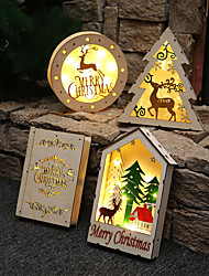 cheap -Christmas Ornaments Holiday Wooden Square Novelty Christmas Decoration