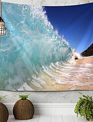 cheap -Beach Theme Wall Decor 100% Polyester Mediterranean / Modern Wall Art, Wall Tapestries Decoration