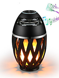 cheap -1pc Bluetooth Speaker USB Led Flame Lights Outdoor Portable Led Flame Atmosphere Lamp Stereo Speaker Outdoor Camping Woofer Mini