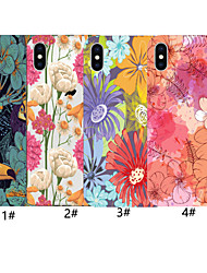 cheap -Case For Apple iPhone XR / iPhone XS Max Flower Pattern Back Cover Color Gradient Soft TPU for iPhone X XS 8 8PLUS 7 7PLUS 6 6PLUS 6S 6S PLUS