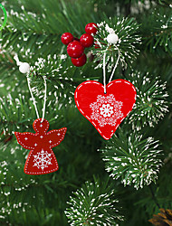 cheap -Holiday Decorations New Year's Decorative Objects Decorative Red 1pc