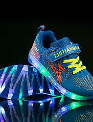 cheap -Boys' / Girls' LED / LED Shoes / USB Charging Flyknit Sneakers LED Shoes Little Kids(4-7ys) / Big Kids(7years +) Walking Shoes LED / Luminous Purple / Blue / Black / Green Summer / Fall / Color Block