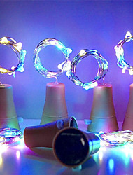 cheap -Outdoor Solar String Light Garden LightLED Solar Bottle Stopper Cork String Lights Wine Copper 2m 20LEDs Wire String Lights 10pcs Fairy Lamps Outdoor Wedding Birthday Banquet Party Decoration