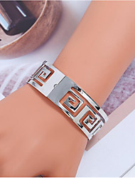 cheap -Women's Bracelet Bangles Classic Faith Stylish Chrome Bracelet Jewelry Gold / Silver For Gift Daily