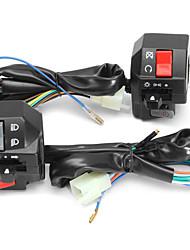 cheap -Motorcycle 7/8inch 22mm 12V Handlebar Switch Horn Turn Signal Headlight Electrical Start