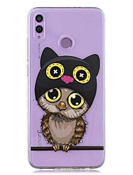 cheap -Case For Huawei Honor 8X / Huawei P Smart (2019) Pattern / Transparent Back Cover Owl Soft TPU for Mate10 Pro / Mate10 Lite / Y6 (2018) / Y5 (2018) / P20 Lite / P Smart / P20 Pro
