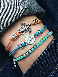 cheap -Women's Beaded Mini Turtle Stylish Boho Stone Bracelet Jewelry Blue For Daily Holiday