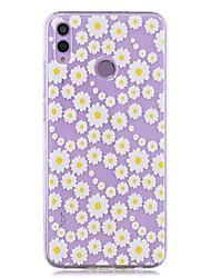 cheap -Case For Huawei Honor 8X / Huawei P Smart (2019) Pattern / Transparent Back Cover White Chrysanthemum Soft TPU for Mate20 Lite / Mate10 Lite / Y6 (2018) / P20 Lite / Nova 3i / P Smart / P20 Pro