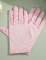 cheap -Lace Wrist Length Glove Party / Evening / Elegant With Embroidery / Solid