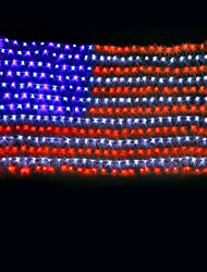 cheap -7m American Flag String Lights 135 LEDs Multi Color Decoration for Outdoor / Christmas / Independence Day   220-240V 1set