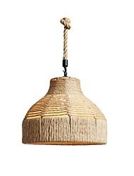 abordables -Lanterne Lampe suspendue Lumière d'ambiance corde de chanvre Design nouveau 110-120V / 220-240V