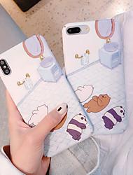 cheap -Case For Apple Painted Series Hammam Sleeping Bear Pattern Phone Case for iPhone6/6S/6SPLUS/7/7PLUS/8/8PLUS/X/XR/XS/XSMAX