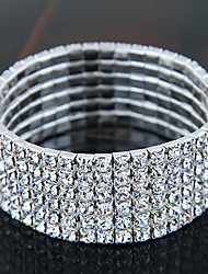 cheap -Women's Bracelet Bangles Tennis Bracelet Ladies Vintage Party Bridal Iced Out Rhinestone Bracelet Jewelry Silver For Christmas Gifts Wedding Dailywear Masquerade Engagement Party Prom