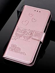 Недорогие -Кейс для Назначение Motorola MOTO G6 / Moto G6 Play / Moto G6 Plus Кошелек / Бумажник для карт / со стендом Чехол Животное Твердый Кожа PU / Мото G5 Plus